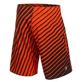 Philadelphia Flyers Official NHL Team Logo Poly Stripes Boardshorts
