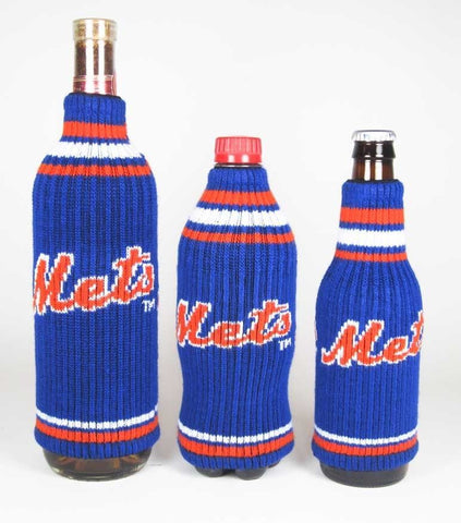 New York Mets Official MLB Krazy Kovers Stretchy Woolie Bottle Cooler