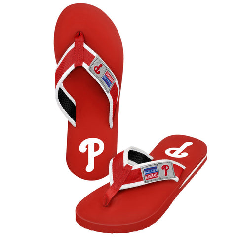 Philadelphia Phillies Official MLB Locker Label Contour Thong Flip Flops