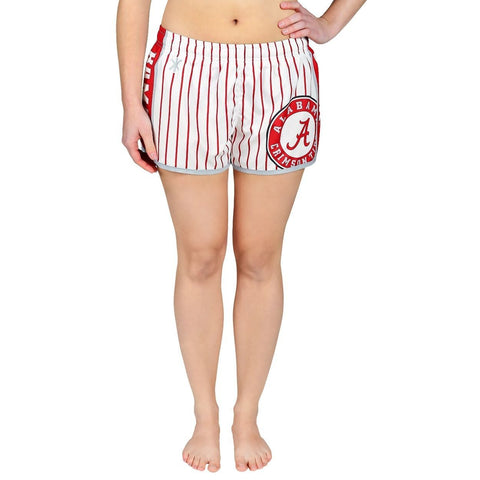 Alabama Crimson Tide Official NCAA Womens Comfy Pin Stripe Shorts