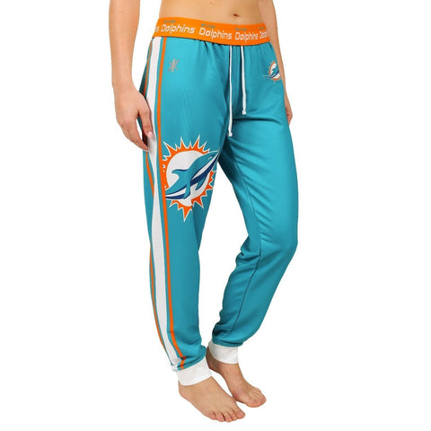 Miami Dolphins Official NFL Womens Poly Fleece Jogger Pants
