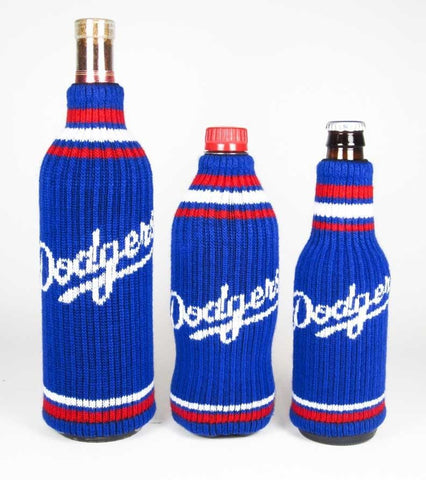 Los Angeles Dodgers Official MLB Krazy Kovers Stretchy Woolie Bottle Cooler