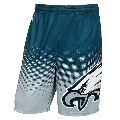 Philadelphia Eagles Official NFL Gradient Polyester Drawstring Shorts
