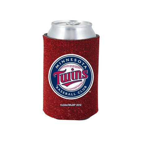 Minnesota Twins Official MLB Glitter Can Collapsable Beer Holders