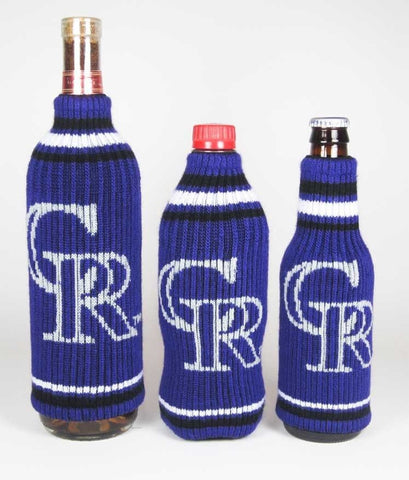 Colorado Rockies Official MLB Krazy Kovers Stretchy Woolie Bottle Cooler