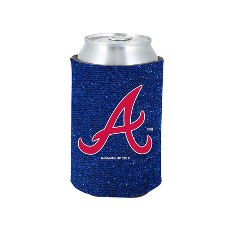 Atlanta Braves Official MLB Glitter Can Collapsable Beer Holders