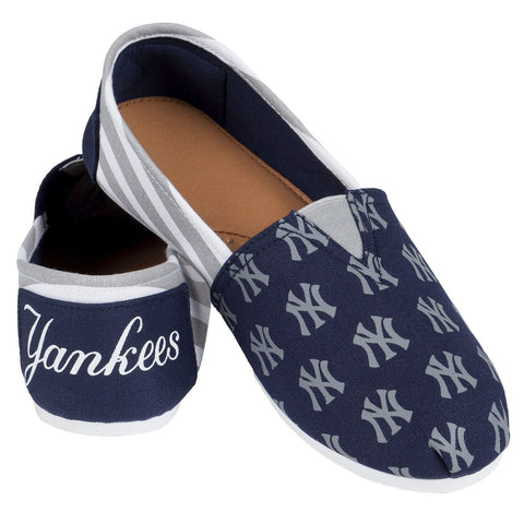 New York Yankees Official MLB Stripe Canvas Shoes