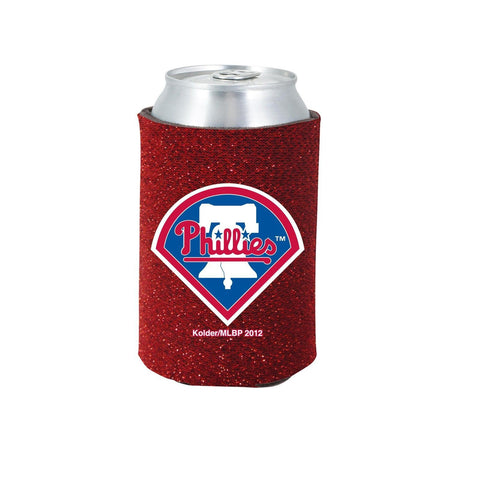 Philadelphia Phillies Official MLB Glitter Can Collapsable Beer Holders