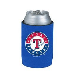 Texas Rangers Official MLB Beer Can Collapsible Holder Neoprene Cooler