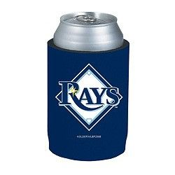 Tampa Bay Rays Official MLB Beer Can Collapsible Holder Neoprene Cooler