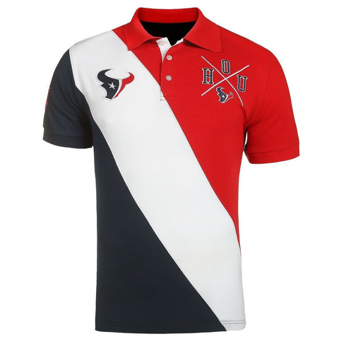 Houston Texans Official NFL Diagonal Stripe Polo
