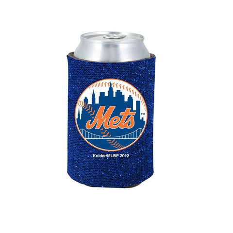 New York Mets Official MLB Glitter Can Collapsable Beer Holders