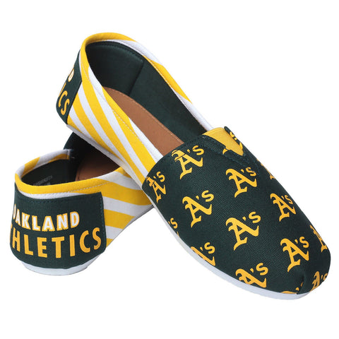 Oakland Athletics Official MLB Stripe Canvas Shoes