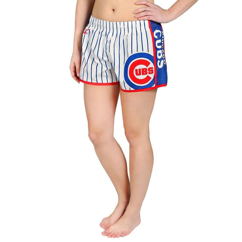 Chicago Cubs Official MLB Womens Comfy Pin Stripe Shorts
