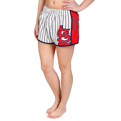 St. Louis Cardinals Official MLB Womens Comfy Pin Stripe Shorts