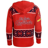 St Louis Cardinals Official MLB Full Zip Hooded Sweater
