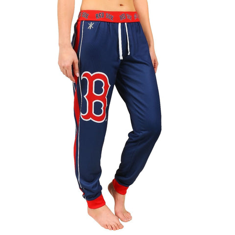 Boston Red Sox Official MLB Womens Poly Fleece Jogger Pants