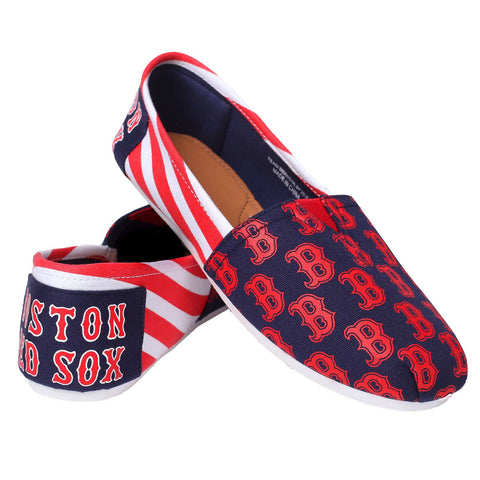 Boston Red Sox Official MLB Stripe Canvas Shoes