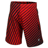 Atlanta Falcons Official NFL Poly Stripes Swimsuit Boardshorts