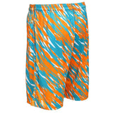 Miami Dolphins Official NFL Team Logo Polyester Repeat Print Training Shorts
