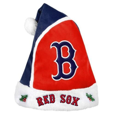Boston Red Sox MLB Team Logo 2015 Christmas Basic Santa Hat