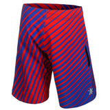 Texas Rangers Official MLB Poly Stripes Swimsuit Boardshorts
