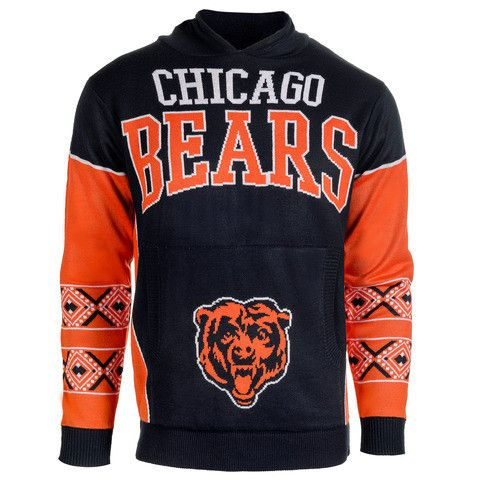 "Chicago Bears Official NFL ""Big Logo"" Hooded Sweatshirt by Klew"