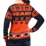 "Chicago Bears Women's Official NFL ""Big Logo"" V-Neck Sweater by Klew"