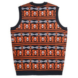 Chicago Bears Official NFL Men's Aztec Sweater Vest By Klew