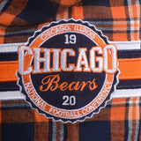 Chicago Bears Wordmark NFL Short Sleeve Flannel Shirt by Klew