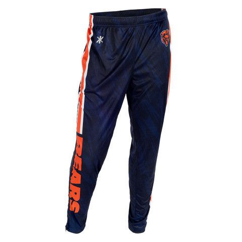 Chicago Bears Official NFL Men's Tapered Zip Up Pants