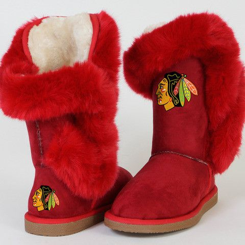 "Chicago Blackhawks Women's Cuce Official NHL ""Champions"" Boots"