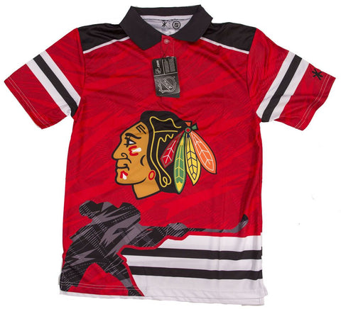 Chicago Blackhawks Official NHL Thematic Polyester Polo Shirt