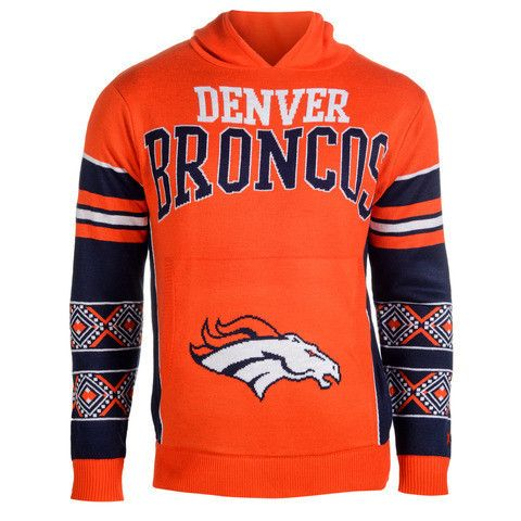 "Denver Broncos Official NFL ""Big Logo"" Hooded Sweatshirt by Klew"
