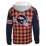 Denver Broncos Flannel Fleece Hoodie by Klew