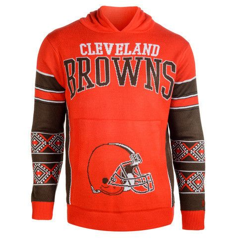 "Cleveland Browns Official NFL ""Big Logo"" Hooded Sweatshirt by Klew"