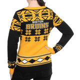 "Boston Bruins Women's Official NHL ""big Logo"" V-neck Sweater By Klew"