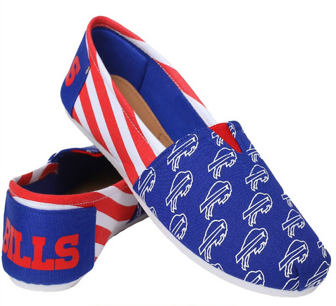 Buffalo Bills Official NFL Stripe Canvas Shoes