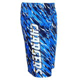 San Diego Chargers Official NFL Team Logo Polyester Repeat Print Training Shorts