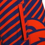 Denver Broncos Official NFL Poly Stripes Swimsuit Boardshorts