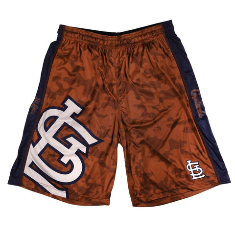 St Louis Cardinals Official MLB Big Log Camo Shorts