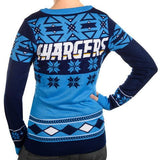 "San Diego Chargers Women's Official NFL ""Big Logo"" V-Neck Sweater by Klew"