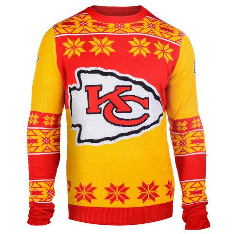 Kansas City Chiefs Official Men's NFL Big Logo Sweater
