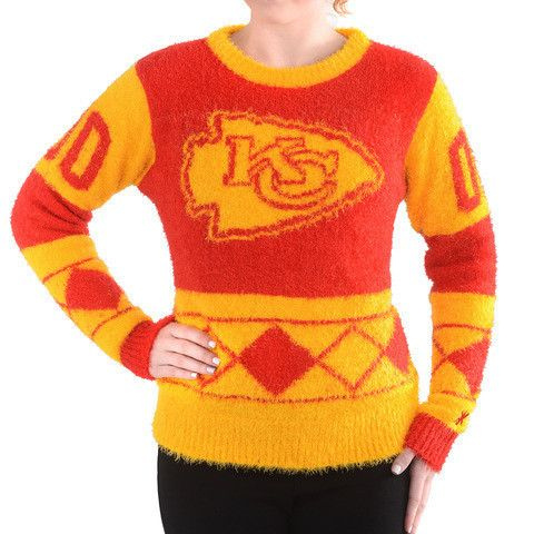 Kansas City Chiefs Official NFL Women's Eyelash Sweater