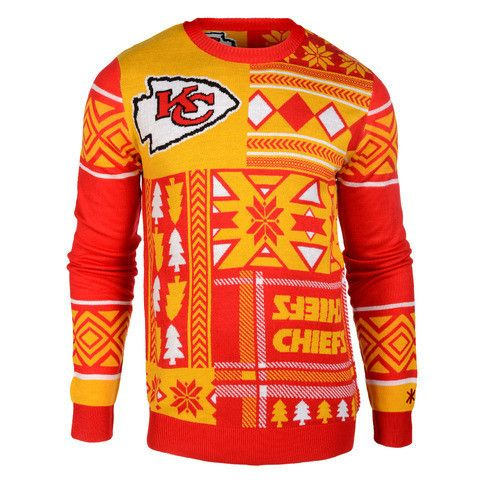 "Kansas City Chiefs Official Men's NFL ""Ugly Sweater"" by Klew"