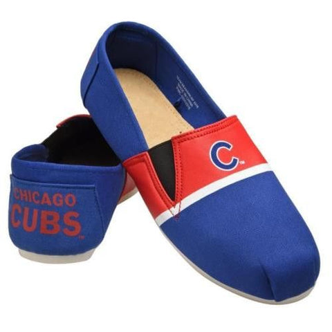 Chicago Cubs Official MLB Stripe Canvas Shoes - Men