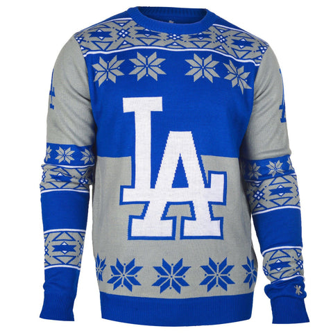 Los Angeles Dodgers Official MLB Big Logo Ugly Crew Neck Sweater