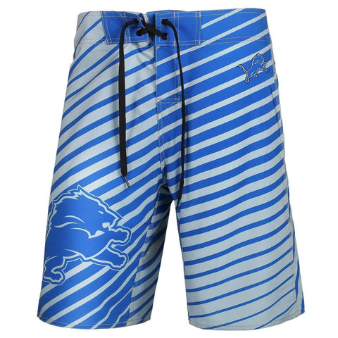 Detroit Lions Official NFL Poly Stripes Swimsuit Boardshorts