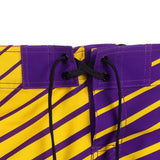 LSU Tigers Official NCAA Poly Stripes Swimsuit Boardshorts