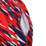 New England Patriots Official NFL Team Logo Polyester Repeat Print Training Shorts